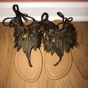 Archer Feather Sandals *NWB*